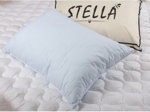 Антиаллергенная подушка Lotus Stella стеганая, хлопок, синяя, 50х70 2000008483209 от Lotus в интернет-магазине PannaTeks