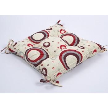 Подушка на стул Lotus Circle с завязками