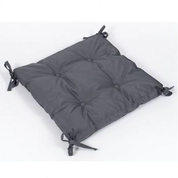 Подушка на стул Lotus Optima с завязками антрацитовая