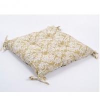 Подушка на стул с завязками Lotus Crown бежевая