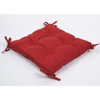 Подушка на стул Lotus Optima с завязками красная