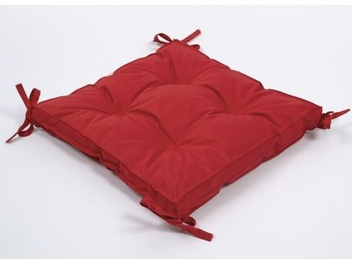 Подушка на стул, табурет с завязками Lotus Optima красная, 40х40, квадратная 2000022234979 от Lotus в интернет-магазине PannaTeks