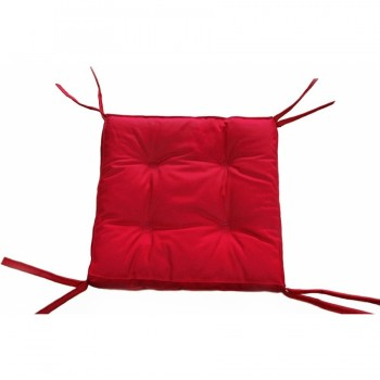Подушка на стул, табурет с завязками Lotus Optima красная, 40х40, квадратная фото 1