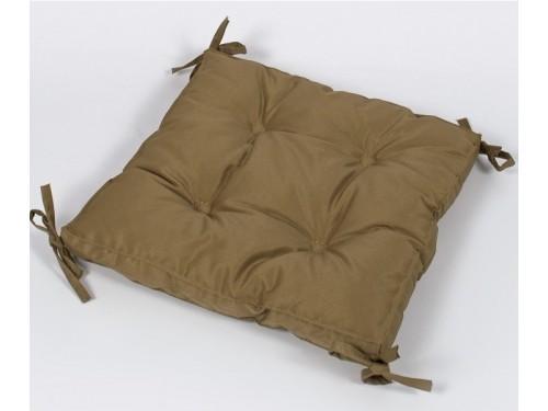 Подушка на стул, табурет с завязками Lotus Optima горчичная, 40х40, квадратная 2000022233330 от Lotus в интернет-магазине PannaTeks