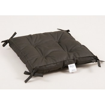 Подушка на стул, табурет с завязками Lotus Optima хаки, 40х40