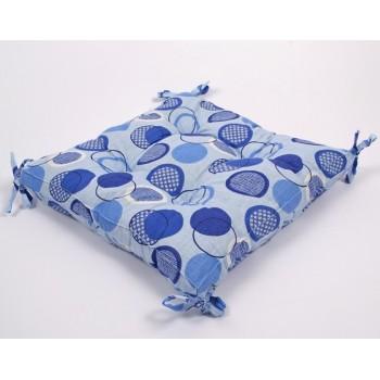 Подушка на стул Lotus Erin с завязками голубой