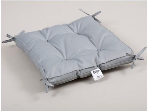 Подушка на стул с завязками Lotus Optima, серая, квадратная 2000022086196 от Lotus в интернет-магазине PannaTeks