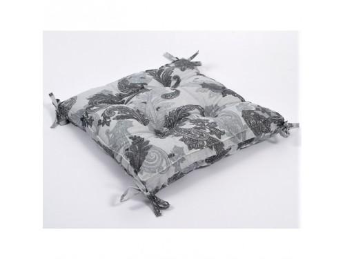 Подушка на стул с завязками Lotus Great серая, квадратная 22251808 от Lotus в интернет-магазине PannaTeks
