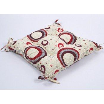 Подушка на стул, табурет с завязками Lotus Circle 45х45