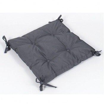 Подушка на стул, табурет с завязками Lotus Optima антрацитовая, 40х40