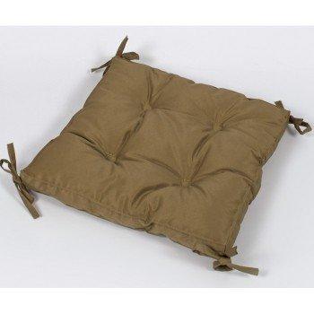 Подушка на стул, табурет с завязками Lotus Optima горчичная, 40х40