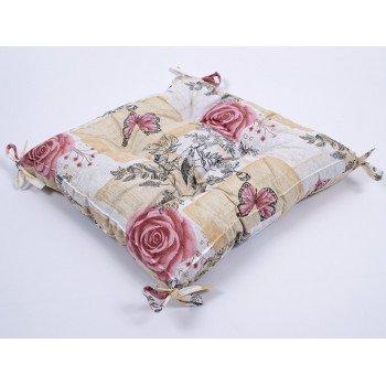 Подушка на стул, табурет с завязками Lotus Niona 45х45