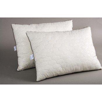 Подушка из антиаллергенного волокна Lotus Cotton Delicate, бежевая