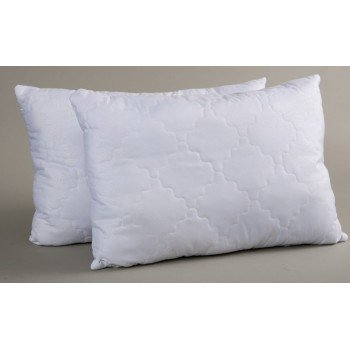 Белая подушка холлофайбер Lotus Fiber 3D