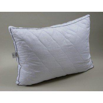 Подушка холлофайбер (нанофайбер) с лебяжим пухом Lotus Juno, белая