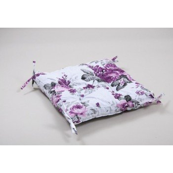 Подушка на стул, табурет с завязками Lotus Fiona лиловая, 45х45