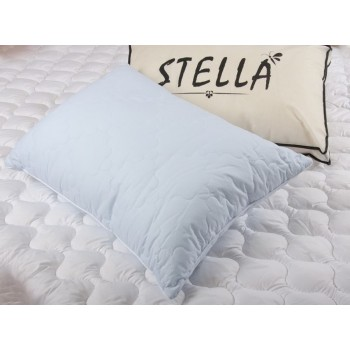 Антиаллергенная подушка Lotus Stella стеганая, хлопок, синяя, 50х70