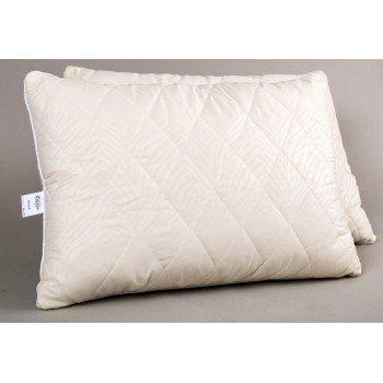 Подушка шерстяная Lotus Wool, стеганая, бежевая
