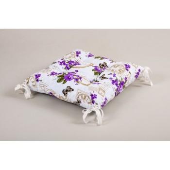 Подушка на стул Lotus Limoges с завязками лиловый