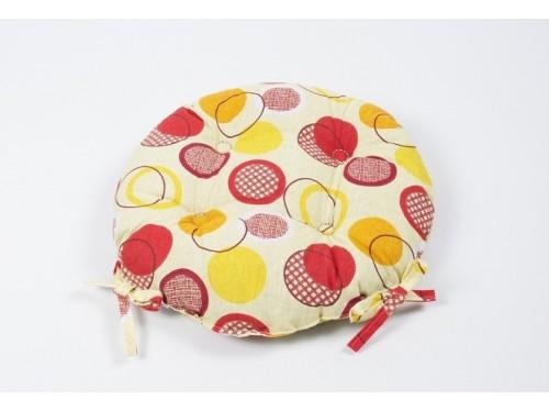 Подушка на стул Lotus Erin, Желтая, Круглая 2000022188661 от Lotus в интернет-магазине PannaTeks