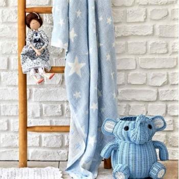 Детское покрывало пике Baby star mavi Турция фото 1