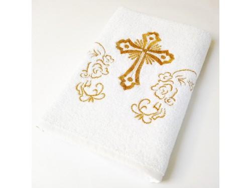Крыжма махровая Белая с Золотом 2281 от Lotus в интернет-магазине PannaTeks