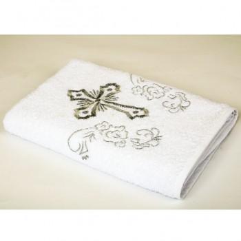 Крыжма на крестины Белая с серебром 3349 от Lotus в интернет-магазине PannaTeks