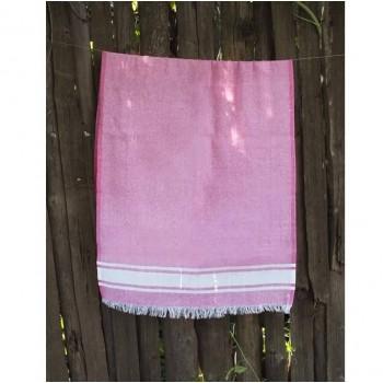 Турецкое полотенце пештемаль для хамама и пляжа Pink Simple stripe