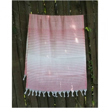Турецкое полотенце пештемаль для хамама и пляжа Light-pink Micro stripe