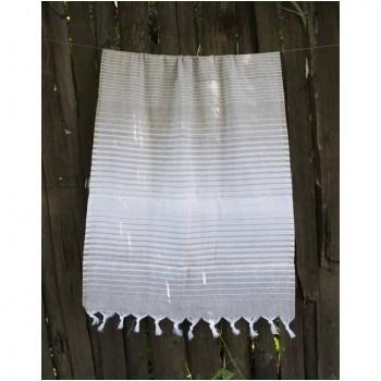 Турецкое полотенце пештемаль для хамама и пляжа Beige Micro stripe