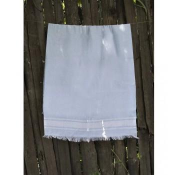 Турецкое полотенце пештемаль для хамама и пляжа Blue Simple stripe
