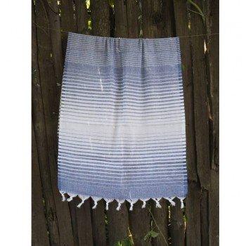 Турецкое полотенце пештемаль для хамама и пляжа Navy-blue