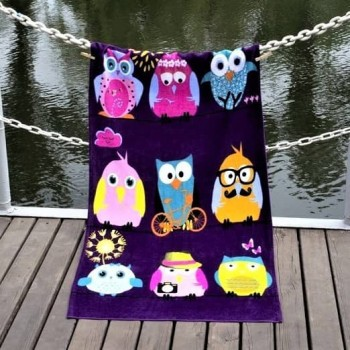 Пляжное полотенце Owls Family велюр