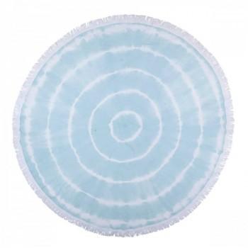 Круглое пляжное полотенце Swirl Roundie Mint Турция голубое