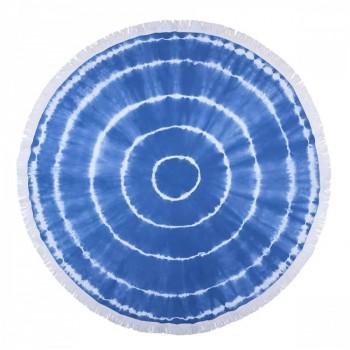 Круглое пляжное полотенце Swirl Roundie Blue Турция синее