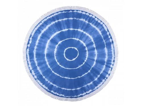 Круглое пляжное полотенце Swirl Roundie Blue Турция синее 244442 от Barine в интернет-магазине PannaTeks