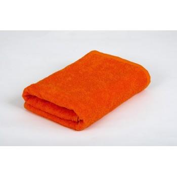 Отельное махровое полотенце оранжевое Lotus фото 1