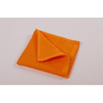Отельное махровое полотенце оранжевое Lotus фото 2