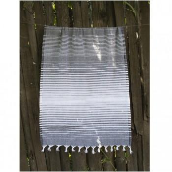 Полотенце Lotus Pestemal Black Micro stripe