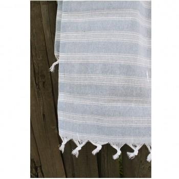 Полотенце Lotus Pestemal Blue Hard stripe фото 1