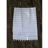 Полотенце Lotus Pestemal Blue Hard stripe