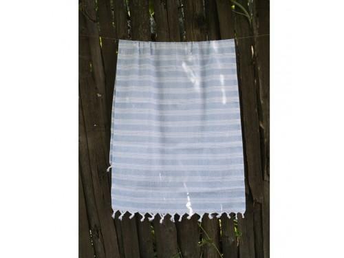 Турецкое полотенце пештемаль для хамама и пляжа Blue Hard stripe 2000022187114 от Lotus в интернет-магазине PannaTeks