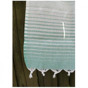 Полотенце Lotus Pestemal Green Micro stripe фото 1