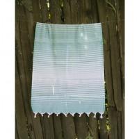 Полотенце Lotus Pestemal Green Micro stripe
