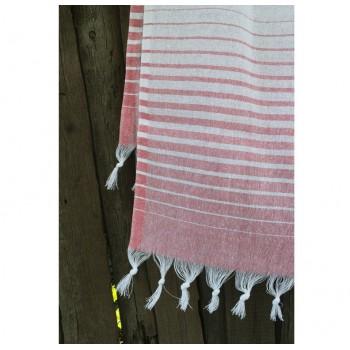 Турецкое полотенце пештемаль для хамама и пляжа Light-pink Micro stripe фото 1