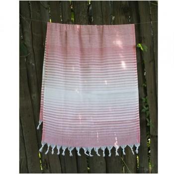 Полотенце Lotus Pestemal Light-pink Micro stripe
