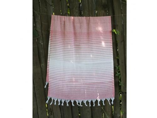 Турецкое полотенце пештемаль для хамама и пляжа Light-pink Micro stripe 2000022187091 от Lotus в интернет-магазине PannaTeks