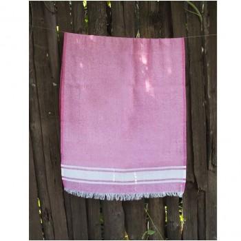 Полотенце Lotus Pestemal Pink Simple stripe