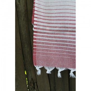 Полотенце Lotus Pestemal Red Micro stripe фото 1
