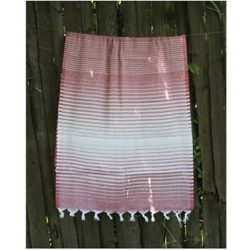 Полотенце Lotus Pestemal Red Micro stripe